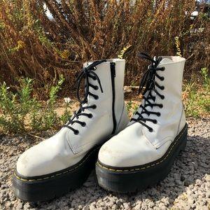 White Platform Jadon Doc Martens